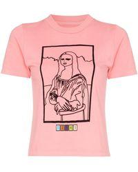 Maisie Wilen T-shirt Mona Lisa con stampa - Rosa