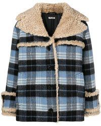 Miu Miu - Checked Jacket - Lyst