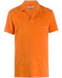 Orlebar Brown ショートスリーブ ポロシャツ - オレンジ