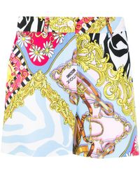 Boutique Moschino Brocade Print Shorts - Yellow