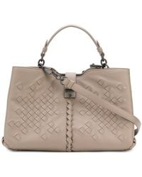 b1b7607918c5 Lyst - Bottega Veneta Small Intrecciato Boudoir Bag in Gray
