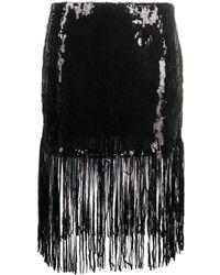 L'Autre Chose スパンコール スカート - ブラック