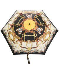 Moschino Paraguas con motivo Toy Scarf - Multicolor