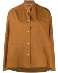 Acne Studios Mandarin Collar Overshirt - Brown