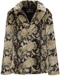 Unreal Fur Manteau à imprimé peau de serpent - Multicolore