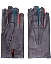 Paul Smith Contrasting Finger Gloves - Purple