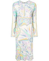 Emilio Pucci - Printed Midi Shift Dress - Lyst