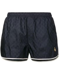 Gucci GG Monogram Swim Shorts - Blauw