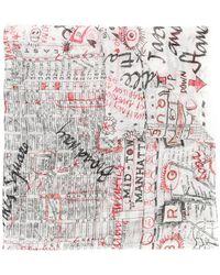 Faliero Sarti - Map Of New York Scarf - Lyst