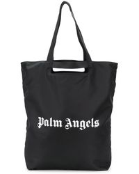Palm Angels Logo Print Tote Bag - Black