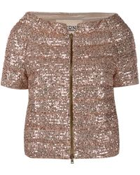 Herno Sequin-embroidered Puffer Jacket - Metallic