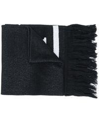 MCM ロゴ ニットスカーフ - ブラック
