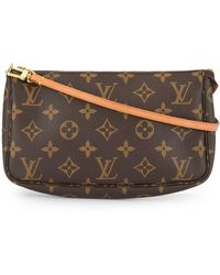 Louis Vuitton Borsa baguette con monogramma Pre-owned - Marrone