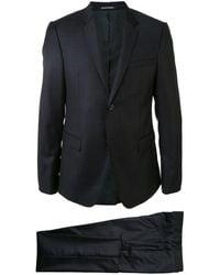 Emporio Armani Costume à carreaux - Noir