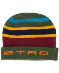 Etro Шапка Бини С Логотипом - Зеленый