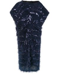 Gloria Coelho Midi Sequinned Dress - Blue
