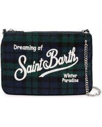 Mc2 Saint Barth Tartan Clutch Bag - Blue