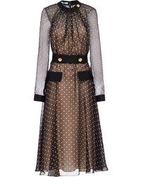 Prada ポルカドット ドレス - ブラウン