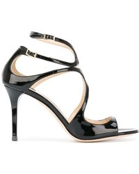 Jimmy Choo Ivette 85 Sandals - Zwart