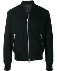 AMI ジップアップ ボンバージャケット - ブラック