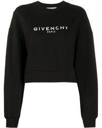 Givenchy クロップド スウェットシャツ - ブラック