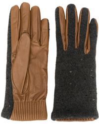 Brunello Cucinelli Textured Gloves - Gray