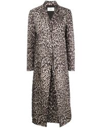 Ports 1961 - Leopard Print Quilted Coat - Lyst