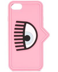 Chiara Ferragni Logo Eye-print Iphone 7/8 Case - Pink