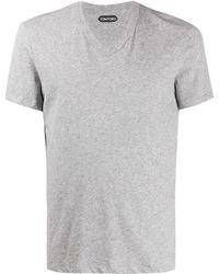 Tom Ford T-shirt Met V-hals - Grijs
