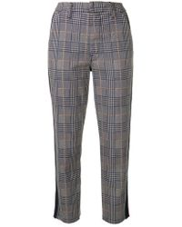 Mother - Shaker Prep Fray Trousers - Lyst