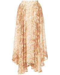 Kitx - Ikat Printed Draped Skirt - Lyst