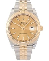 Rolex Наручные Часы Oyster Perpetual Datejust 41 Мм - Металлик