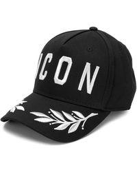 """DSquared² CAPPELLO """"ICON"""" IN COTONE - Nero"""