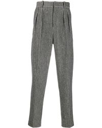 Isabel Marant Pinstripe Tailored Trousers - Gray
