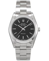 Rolex 1998 pre-owned Air-King Precision 34mm - Schwarz