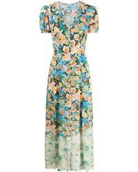 M Missoni Платье На Пуговицах С Цветочным Принтом - Зеленый