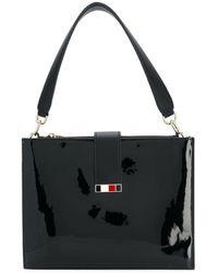 Tommy Hilfiger Patent Statement Shoulder Bag - Black