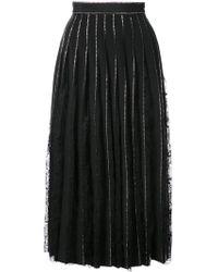 Adam Lippes - Crystal Embellished Pleated Skirt - Lyst