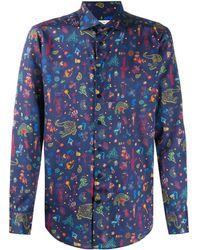 Etro - Overhemd Met Multi-print - Lyst