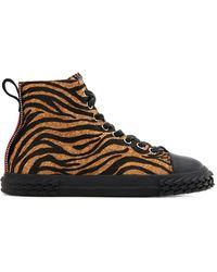 Giuseppe Zanotti Blabber Animal-print Sneakers - Brown