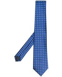 Lanvin Patterned Tie - Blue