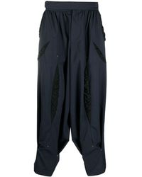 Kiko Kostadinov Loose-fit Cotton Trousers - Blue
