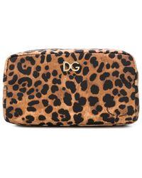 Dolce & Gabbana Leopard Print Make-up Bag - Multicolor