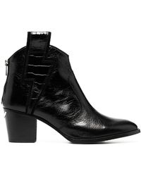 Zadig & Voltaire Molly Flash Leather Ankle Boots - Black