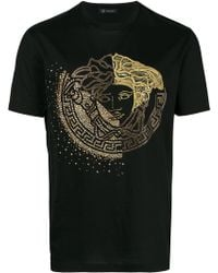 Versace - T-shirt Medusa à broderies et clous - Lyst
