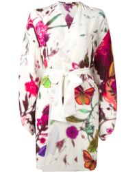 Gilda & Pearl 'timorous Beasties' Kimono - Wit