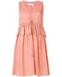 See By Chloé - Drawstring Peplum Dress - Lyst