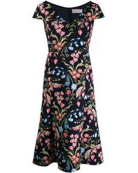 Peter Pilotto Kleid mit Blumen-Print - Blau