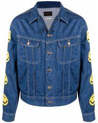 Kapital Jeansjacke mit Logo-Patch - Blau