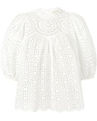Ulla Johnson - Broderie Anglaise Blouse - Lyst